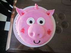 piggy cake I made for the annual pig roast at the cottage
