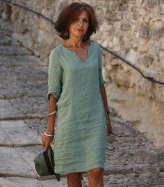 Linen dress green – Linen dress green Source by – – Kleidung Fall Fashion Outfits, Mode Outfits, Fashion Dresses, Simple Dresses, Casual Dresses, Casual Outfits, Casual Tops For Women, Linen Dresses, Linen Summer Dresses