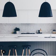 farmhouse kitchen in black and white