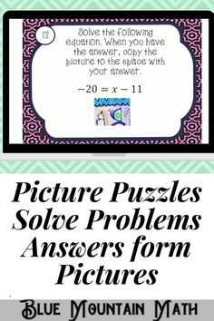 Looking for a fun way to practice solving one step equations with an engaging activity? This activity includes 16 problems in google slides where students will solve the equations. Once they have their answer, they will copy the picture on the slide to their answer sheet. When they have solved all the problems, a picture will appear. Great practice for distance learning and classroom as well. Or assign for homework