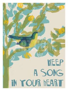 Keep A Song In Your Heart Giclee Print by Lisa Weedn at Art.com