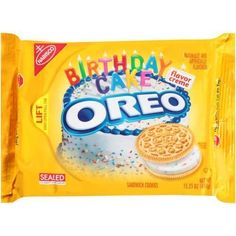 Oreo Golden Birthday Cake Cookies Limited Edition 2 Pack by Nabisco Foods   #SportRackets