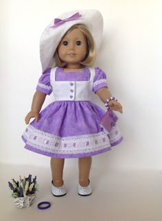American Girl Doll: Going To A Garden Party by SewSpecialByBarb