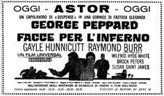 Facce per l'inferno (P.J., 1967) con George Peppard e Raymond Burr. Italian release: December 22, 1967 #GeorgePeppard #MoviePosters