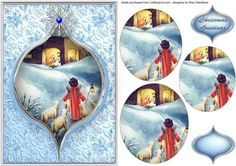 While Shepherds Watch Pyramid Card Front Christmas Sheets, Christmas Picks, 3d Christmas, Christmas Pictures, 3d Cards, Christmas Cards, Art Carte, Christmas Decoupage, Free Printable Cards