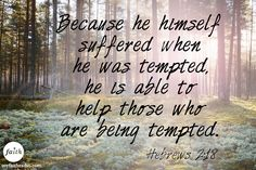 Hebrews 2:18...Christ was fully human and fully God.