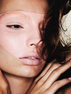 abstract impression - carola remer for vogue japan beauty april 2012, photographed by ben hassett
