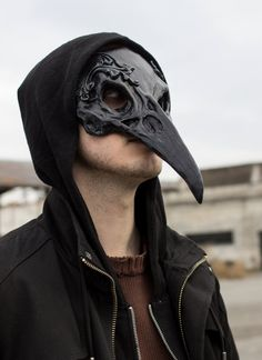 Masque de crâne Corbeau