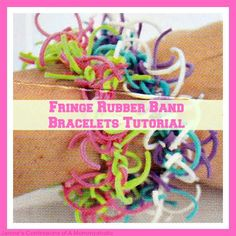 Learn how to make Fringe #RubberBand #Bracelets and join the Pincentive #BlogHop again!! #pinterest