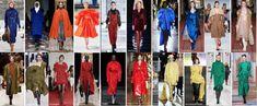de nieuwe kleuren voor de herfst en winter
