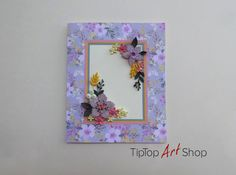 Paper Quilling Greeting Card with Handmade Flowers by TipTopArtShop
