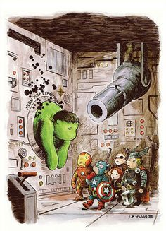 The Avengers 귀여운 어벤져스 일러스트