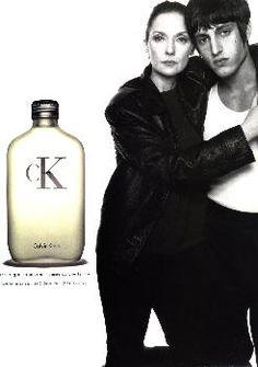 Donna Mitchell and Johnny Zander for cK one Calvin Klein shot by Steven Meisel 1994.