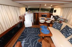 Used 1986 Carver 4207 Aft Cabin Motoryacht, 21220 Middle River - Boat Trader Middle River, Heat Exchanger, Yacht For Sale, Power Boats, Teak, The Unit, Cabin, Flooring, Interior