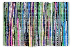 """Amazon.com: DII Home Essentials Rag Rug for Kitchen, Bathroom, Entry Way, Laundry Room and Bedroom, 20 x 31.5"""" Multi Colored: Home & Kitchen"""