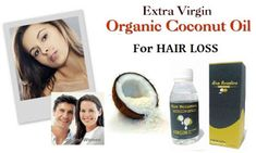 Virgin Coconut Oil for Hair Loss Oil For Hair Loss, Natural Supplements, Organic Coconut Oil, Healthy Tips, Diet, Beauty, Beleza, Cosmetology