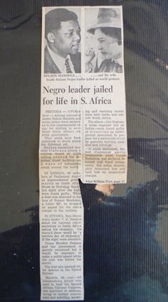 Mandela Memorabilia - Nelson Mandela Jailed -- Toronto Star article June 1964 was listed for on 15 May at by past and present in Bloemfontein Toronto Star, Apartheid, Nelson Mandela, Communism, African History, Afrikaans, Cape Town, Warfare, Black History