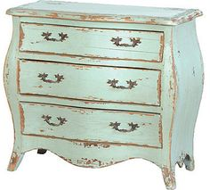 Turquoise French Furniture Mahogany with an authentic aged and distressed finish. The Ultimate in Shabby Chic furniture. All other images showing other products are available from us please call or em