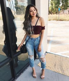 Cute hipster outfits, cute girl outfits, new outfits, crop top outfits, pretty Hipster Outfits For Teens, Cute Girl Outfits, Teenager Outfits, New Outfits, Cool Outfits, Casual Outfits, Fashion Outfits, Fashion Trends, Amazing Outfits
