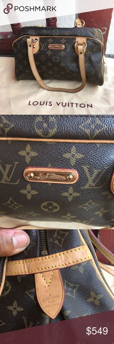 26eaacd4f52 Authentic LV Montorgueil PM Preloved authentic bag. Minimal wear no exposed  piping or scuffs.