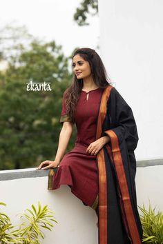Long Dress Design, Dress Neck Designs, Designs For Dresses, Blouse Designs, Simple Kurta Designs, Kurta Designs Women, Casual Indian Fashion, Indian Fashion Dresses, Stylish Dresses
