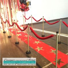 #Sweet16 #redcarpet #stanchions #hollywood theme #PVCpipe by CamilleDeal of TheCGDstudio