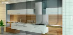 """Kitchen LAAMU from RODA (collection of kitchens """"Modern space""""). Facades with 3D by milling"""