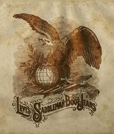 Eagle on globe design advertisement for LEVI STRAUSS AND COMPANY By STEPHEN SKURNICK.