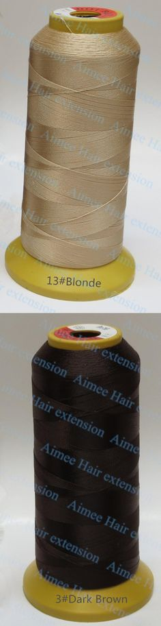 Weaving Threads for machine weft hair extension professional hair accessories Tools D.brown 1pcs hair needle lines 4type as gift