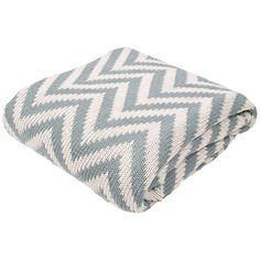 Jaipur Serin Chevron Light Blue Cotton Throw Blanket - Style # 9H873