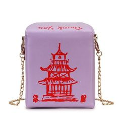 Chinese Takeout Box Tower Print Pu Leather Ladies Handbag Novelty Cute Women Shoulder Bag Messenger Bag Totes Bag Color Black- Chinese Takeout Box Tower Print Pu Leather Ladies Handbag Novelty Cute Women Shoulder Bag Messenger Bag Totes Bag Color Black   -#LadiesHandbags2019 #LadiesHandbagsbetseyjohnson #LadiesHandbagsdior2020 #LadiesHandbagsdreams #LadiesHandbagsfall Mini Messenger Bag, Crossbody Messenger Bag, Crossbody Shoulder Bag, Shoulder Handbags, Tote Bag, Cheap Designer Handbags, Cheap Handbags, Ladies Handbags, Cute Crossbody Bags