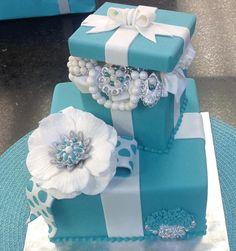 gift boxes, awesom cake, box cake, blue box, tiffany blue