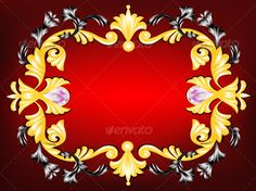 Realistic Graphic DOWNLOAD (.ai, .psd) :: http://jquery.re/pinterest-itmid-1000047360i.html ... Ornamental frame  ...  design, element, frame, gray, leaves, ornamental, precious stones, red, scrolls, yellow  ... Realistic Photo Graphic Print Obejct Business Web Elements Illustration Design Templates ... DOWNLOAD :: http://jquery.re/pinterest-itmid-1000047360i.html