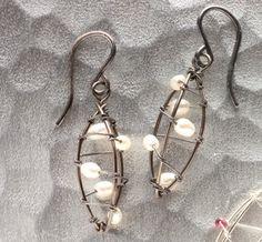 Seedpod Earrings, black and white. $78.00, via Etsy.