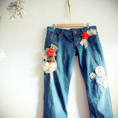 Bohemian Jeans Upcycled Clothing Women's