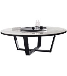 Xilos Round Table With Marble Top Maxalto