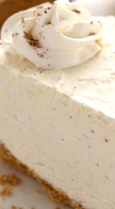 No Bake Eggnog Cheesecake