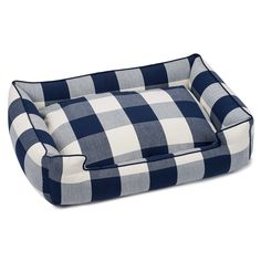 Jax and Bones Buffalo Check Navy Premium Cotton Blend Lounge Bed
