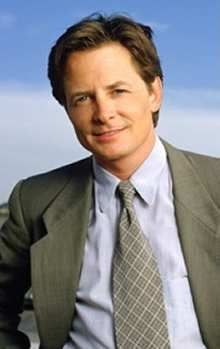 Michael J. Fox. Over coming  what ever comes his way with his family by his side.