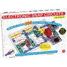 Snap Circuits SC-300: Give your child an exciting, hands-on introduction to electronics with Elenco Electronics Snap Circuits SC-300. This kit contains over 60 color-coded, real circuit components that snap together to create working electronic circuits and devices. Recommended for children 8 and older, this set offers 305 do-it-yourself projects that will give your child an entertaining, concrete education on how electronics work.