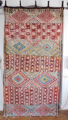 Vintage Moroccan sequined flat weave 2623