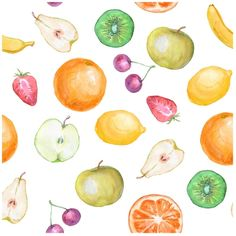 seamless fresh watercolor by Leonid Murtazin, via Behance