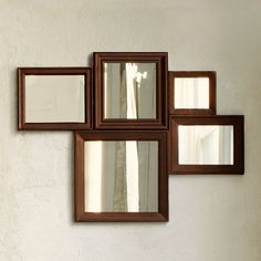 Multi-Moldings Wall Mirror | west elm - make myself - above the guest bed