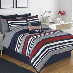 You'll love the Varsity Stripe Comforter Set at Wayfair - Great Deals on all Bed & Bath  products with Free Shipping on most stuff, even the big stuff.