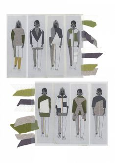 Fashion Sketchbook - fashion illustrations; creative process; fashion portfolio // Emily Postle