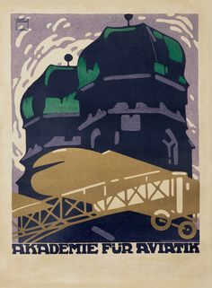 Ludwig Hohlwein - Academy for Aviation (Poster), 1910