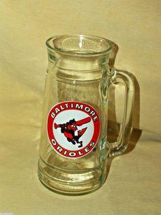 Baltimore Orioles Mug O Nuts Stein Glass Tall Barware Handle Mug Cup Baseball #Unbranded #BaltimoreOrioles