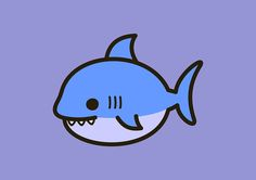 Draw Sharks Cute shark by peppermintpopuk - Shark Tattoos, Animal Tattoos, Lunchbox Notes For Kids, Shark Drawing, Doodle Characters, Shark Art, Cute Shark, Tsumtsum, In The Zoo