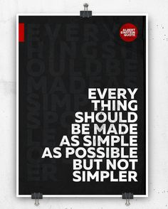 Albert Einstein quote print Poster Wall art by crashontrash