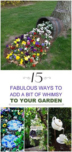 Learn how to add whimsy to your garden to take away the boring blahs, and to make your garden a place people want to come back to!